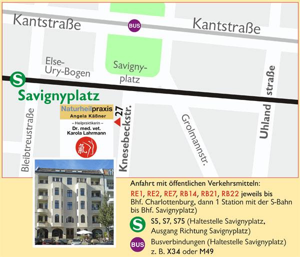 Lageplan der Praxis Karola Lahrmann in Berlin-Charlottenburg